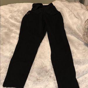 Skinny black maternity pants